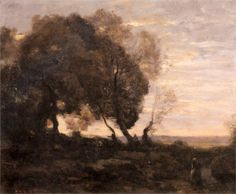 Landscape Composition Italian Scenery - Camille Corot - WikiPaintings.org