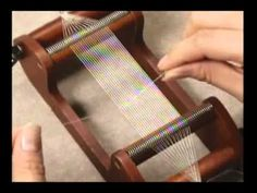 A clear, simple video showing loom weaving, & a finishing technique that leaves no cut ends on the warp threads. Pull the uncut end loops in order, to make work stronger, with no weaving-in of cut warp ends. (In Japanese, & doesn't matter a bit. Best video out there. Turn down the volume & see a thorough well-paced demo of the whole process.)
