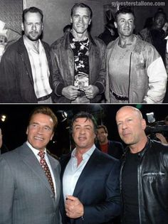 Then and Now.Arnold, Sly and Bruce