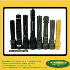 What are you looking for in a torch? Do you want a sharp, focused beam or a wide flood light when you are out at night. Tuinroete Woonwaens Campworld MB would like to hear your opinion. Feel free to comment and let us know your thoughts. #flashlights #outdoorrequirements #lifestyle