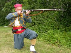 A Rifleman of a New York Zouave Regiment Gettysburg National Military Park, Military Units, French Army, American Civil War, Captain Hat, Civil Wars, New York, History, 19th Century