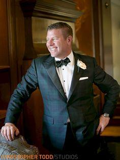 The Ritz Carlton Laguna Niguel Wedding Photographer groom in plaid tux with bow tie