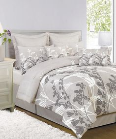 Take a look at this Gray Melanie Reversible Comforter Set by Duck River Textile on #zulily today!