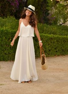 Discover and organize outfit ideas for your clothes. Decide your daily outfit with your wardrobe clothes, and discover the most inspiring personal style Wedding Attire For Women, Casual Wedding Attire, White Outfits, Dress Outfits, Casual Outfits, Outfits Mujer, Vestido Casual, White Casual, Western Outfits