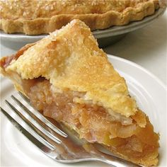 Nothing like a warm slice of apple pie. A scoop of vanilla ice cream would go perfectly with this!