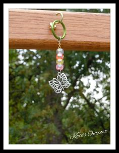Butterfly Key Chain - pinned by pin4etsy.com
