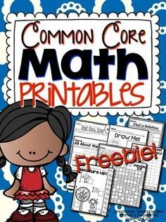 FREEBIE!  This free download includes printable pages for first grade common…
