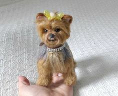 Felted Miniature of your Pet Custom Pet Portrait by GourmetFelted