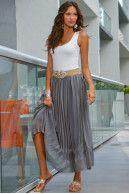 Diamond pleated skirt Boston Proper