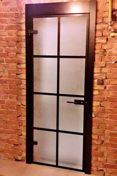 Drzwi Loftowe - Industrialne | Drzwi wewnętrzne - zabudowy szklane - drzwi loft - podłogi Door Mirrors, Diy Home Crafts, Divider, Loft, Doors, Nice, Furniture, Home Decor, Blue Prints