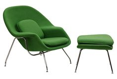 W Lounge Chair use two of these chairs one on each side or triangle table facing bed. #onekingslane #designisneverdone
