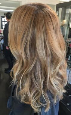 want this - natural blonde highlights and loose waves
