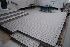 Building A Deck 494481234087885211 - Trex Transcend Gravel Path decking Source by marieseuve Patio Deck Designs, Patio Design, Platform Deck, Deck Steps, Modern Deck, Floating Deck, Design Jardin, Sloped Garden, House Deck