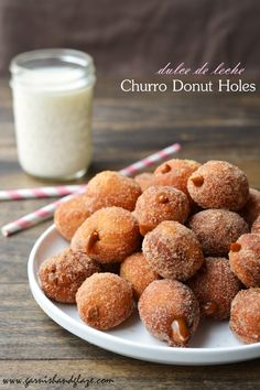 Dulce de Leche Churro Donut Holes | Garnish & Glaze