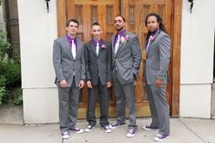 grey black and purple groom casual - Google Search
