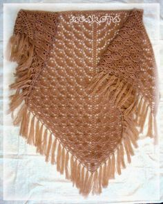 "Shawl ""Scales"" ~ charted pattern in following pin"