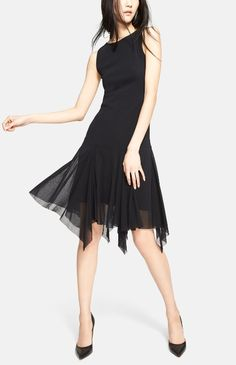 jean paul gaultier | handkerchief hem tulle dress