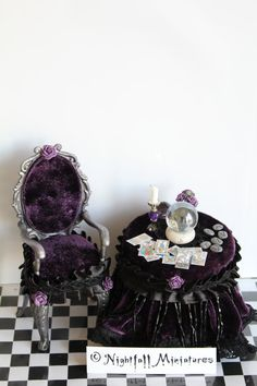 Dollhouse Miniature Gothic Fortune by NightfallMiniatures on Etsy