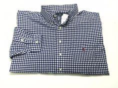 Ralph Lauren 4XLT Men's Big & Tall Blue White Check Long Sleeve Button Front NEW #RalphLauren #ButtonFront