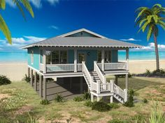 062H-0122: Beach House Plan