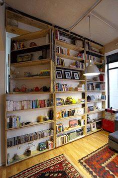 Flipping bookshelves