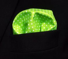 Items similar to Bright Green Pocket Square for Men - Premium Cotton White Dots Suit Handkerchief Cheerful Gift for Him Spring Pocket Square on Etsy Green Pocket Square, Bright Green, Dots, Beanie, Trending Outfits, Unique Jewelry, Handmade Gifts, Men, Vintage
