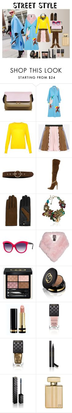 """""""NYFW in Light Blue"""" by mariloli1303 on Polyvore featuring Marni, Delpozo, Valentino, River Island, AGNELLE, Philippe Ferrandis, Italia Independent, Lilly e Violetta, Gucci and women's clothing"""