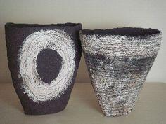 black and white - vessels - ceramic - Sarah Purvey