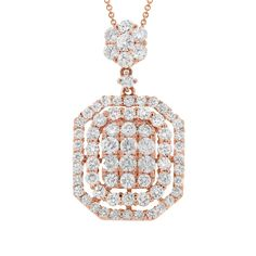 Uniquepedia.com - 1.94ct 18k Rose Gold Diamond Pendant Necklace, $2,548.00 (http://www.uniquepedia.com/1-94ct-18k-rose-gold-diamond-pendant-necklace/)