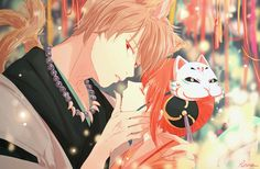 Anime: Gintama Personagens: Okita Sougo e Kagura Anime Love Couple, Cute Anime Couples, Couple Art, Tsubaki Chou Lonely Planet, Gintama, Hotarubi No Mori, Okikagu, Couple Drawings, Anime Kawaii