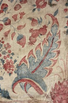 Indian Palampore Chintz Hanging Textile Antique C 1720 | eBay seller loodylady, late 17th/early 18th century for European export; two individually painted panels seamed in middle