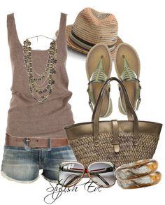 """Noha"" by stylisheve on Polyvore  -- different pair of sandals"