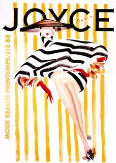 Joyce, Poster By Duncan. Mode Beaute Printemps. French. Measures 48.5x68. 1988.