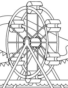 Google search - Amusement park (or Carnival) coloring pages. Great drop-off time filler.