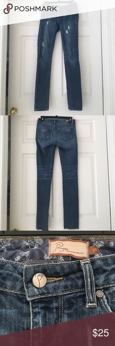 """Distressed Paige Jeans Paige Jeans, distressed skinny """"Skyline Drive"""" classic rise. PAIGE Jeans"""