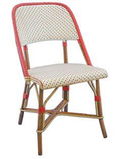 MONTPARNASSE chaise traditionnelle de terrasse de café en rotin de la maison gatti