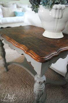 Annie Sloan's French Linen color... I love this color!! And the coffee table!