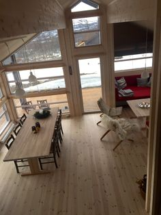 Ålhytte, Leveldåsen, Ål Chalet Interior, Ski Chalet, Cabins In The Woods, Space Saving, Future House, Tiny House, Dining Table, House Design, Furniture