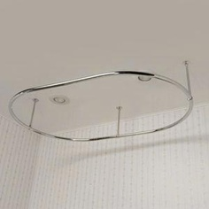 Oval Shower Curtain Rod Chrome: $250 Polished Brass: 290