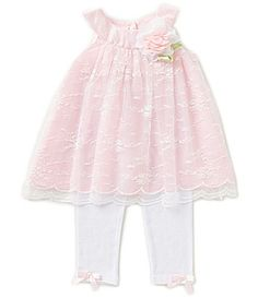 Rare Editions Baby Girls 324 Months Embroidered Lace Dress and Leggings Set #Dillards