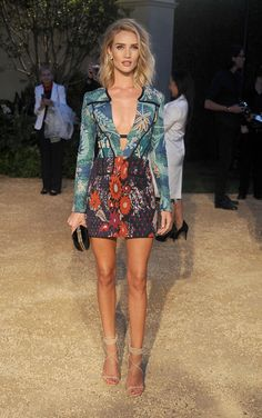 Rosie Huntington-Whiteley at the Burberry Show at Griffith Observatory in LA.