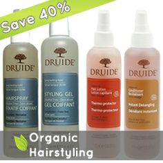 ethicalDeal: 18 dollars gets you 30 dollars worth of any certified organic hair styling products from Druide (30 dollar value). Choose from Alcohol Free Styling Hairspray (13.50 dollars), Herbal Styling Gel (13.50 dollars), Instant Detangling Care (10 dollars) and Thermo-Protector Hair Care (15 dollars). Offer available Nov. 28-Dec. 5, 2013 only.
