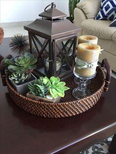 Table decor living room - Beautiful Farmhouse Coffee Table Design For Living Room livingroomdecor livingroomideas livingroomdesign ~ Home Design Ideas