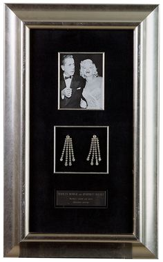 Earrings made of rhinestones belonging to Marilyn Monroe. The actress wore these earrings at the premiere of the film How to Marry a Millionaire on 17 November 1953. From the Maite Minguez Ricart Collection.