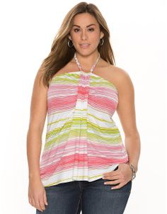 Plus Size Striped Tube Top by Lane Bryant | Lane Bryant