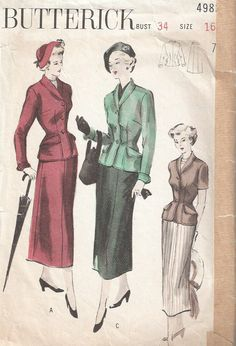 Sites like Etsy and Pinteret have plenty of vintage patterns available for sale, as well as links to vintage retailers. Image found on Pinterest.