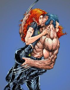 Love this image of Wolverine and Jean Grey, have seriously thought about getting this as a tattoo.