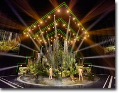 """Petersburg, the fifth annual anniversary music ceremony """"The Stars of the Road Radio"""", our team developed stage design of the project. We made the large Roman numeral five and the sliding LED screen the main structural elements of the show. Stage Lighting Design, Stage Design, Set Design, Award Tour, Pos Display, Ceiling Installation, Stage Set, Vaporwave, Wedding Decorations"""