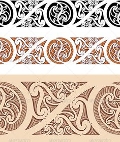 Maori Styled Seamless Pattern - Patterns Decorative