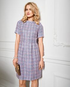 Burda Style September 2018 - SMF Designs and Friends Shift Dress Pattern, Dress Patterns, Sewing Patterns, Burda Patterns, Plus Size Dresses, Dresses For Work, Summer Dresses, Short Sleeve Dresses, Dresses With Sleeves